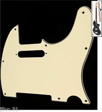 NEW PICKGUARD TELECASTER cream 3 ply pour Fender, Squier ou autre tele etc