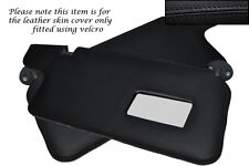 BLACK STITCH FITS HONDA PRELUDE MK3 86-91 2X SUN VISORS LEATHER COVERS ONLY