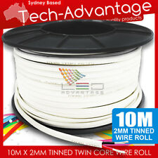 10M X 2mm 6 AMP MARINE TINNED TWO CORE WIRE/ELECTRICAL LED CABLE - BOAT/CARAVAN