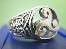 WOW Celtic triskele Fylfot Wicca Ring Sterling silver .925
