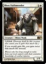 RHOX FAITHMENDER M13 Magic 2013 MTG White Creature—Rhino Monk RARE