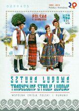 Polen Poland Blöcke 2013 Volkskunst - traditionelle Trachten + gratis