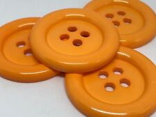 4 GIANT ORANGE 50mm LARGE PLASTIC CLOWN BUTTONS SEWING AND FANCY DRESS