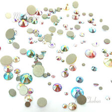 144 Mixed Sizes Swarovski 2058/2088 flatbacks rhinestones AB Effect Colors Mix