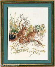 Eva Rosenstand  12-972  3 Lapins  Broderie  Point de Croix  Compté
