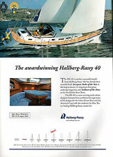 HALLBERG RASSY 40 ADVERT - 2003 Advertisement by Hallberg-Rassy HR 40