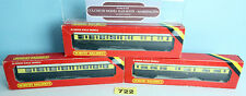 HORNBY 'OO' RAKE OF 3 GWR 57' COMPOSITE/BRAKE/RESTAURANT COACHES BOXED #722Y