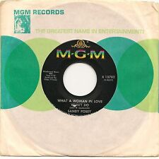 "SANDY POSEY WHAT A WOMAN IN LOVE WON'T DO + SHATTERED 7"" IMPORT 1967 EX"