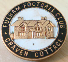 FULHAM FC Very rare vintage CRAVEN COTTAGE Badge button hole fitting 24mm x 24mm