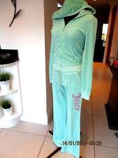 JUICY COUTURE MINT GREEN HOODED VELOUR TRACKSUIT UK 8/10