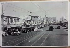 """12 By 18"""" Black & White PICTURE Parade of Fords in Long Beach Kelloggs Delivery"""
