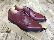 NEW Dr Martens ALLY 14362600 Cherry Red Creeper Shoes Smooth Leather Men's US 14