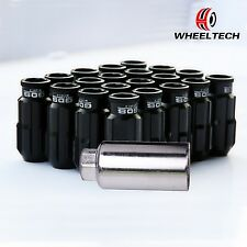 20 X Black Aluminum tuner M12x1.5 50mm for HONDA FORD TOYOTA KIA Wheel Lock Nuts