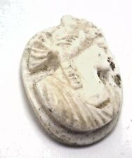 Antique Vintage Carved Oval Coral Cameo Stone White 24 mm x 18.5 mm Undyed P410