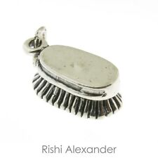 925 Sterling Silver Horses Dandy Brush Charm American Made