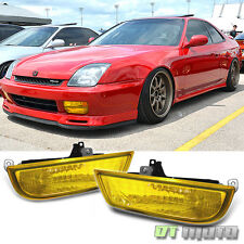 97-02 Honda Prelude JDM Style Yellow Fog Lights Lamps w/Switch Left+Right Pair