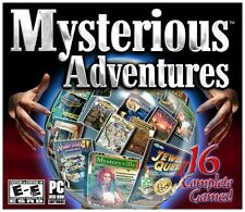 New PC Mysterious Adventures 16 Complete Games! Mahjong Jewel Quest Pirateville