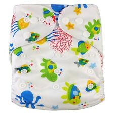 Modern Reusable Washable Baby Cloth Nappy Cloth Diapers  & Insert, Reef