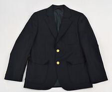 BROOKS BROTHERS Navy Blue Gold Btn LORO PIANA SUPER 120's Wool Sport Coat Sz 10R