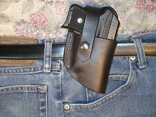 Leather Holster for Ruger .380 LCP with Crimson Trace Laserguard