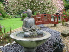 LARGE BUDDHA WATER FEATURE FOUNTAIN OUTDOOR GARDEN PATIO