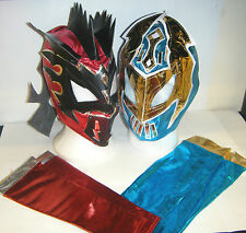 SIN CARA KALISTO LUCHA DRAGONS KIDS MASKS & SLEEVES WRESTLING COSTUME WWE