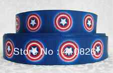 """1m Capitán América Personaje Cinta del Grosgrain 7/8"""" 22mm Cinta De Cabello Moño Pastel"""