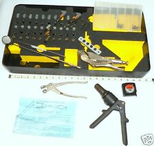 FSI D-100 rivet gun AND 50 pc clecos hand tools fitted tray aircraft sheet metal