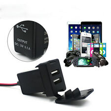 For TOYOTA Charger Car 12V 24V To 5V 3.1A Dual USB Ports Dashboard Mount Charger
