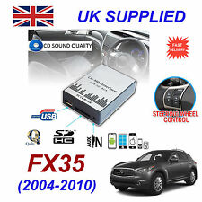 INFINITI FX35 MP3 SD USB CD AUX Input Audio Adapter Digital CD Changer Module