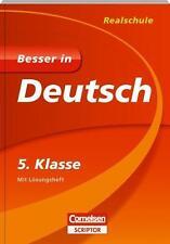 Realschule ♥ Besser in Deutsch 5. Klasse Cornelsen