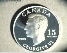 2009 Canada, $15 Viggenetts King George, Comm, High Grade Silver  (Can-324)