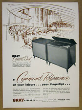1957 Gray Research CONCERT DUET Console Hi-Fi Tube System vintage print Ad