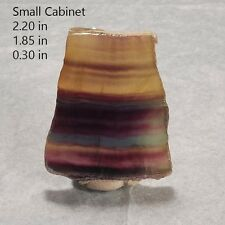 FLUORITE SLAB RAINBOW POLISHED CHINA MINERAL CRYSTAL ROCK GEMSTONE GEMMY