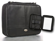 Two-fold LuxLeather Bible Cover Organizer, Black, Small
