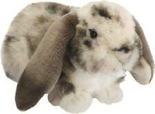 Living Nature British Wildlife Realistic Dutch Lop Ear Rabbit Soft Toy - Grey