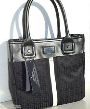NEW! Black-Ivory [TOMMY HILFIGER] Shoulder Tote Handbag Small Tommy Bag
