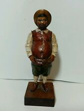 Vintage Hand Carved Ouro Artesania Spain Wooden Sancho Panza Figurine