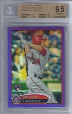 2012 Bryce Harper Topps Chrome Purple Refractor RC... BGS 9.5 Gem Mint w/10 sub