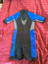 HO Sports MFG  Shorty Wetsuit Jet Ski 2mm 10 Junior Boy Girl Blue Neoprene Youth