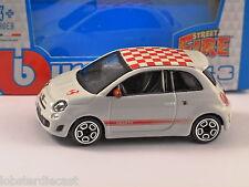 Fiat Abarth 500 en Blanco - 1/43 Escala Modelo Por Burago