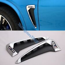 Side Body Marker Fender Air wing Vent Trim M Cover Chrome For BMW X5 F15 2014+