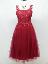 Cherlone Red Prom Cocktail Party Ball Evening Bridesmaid Wedding Formal Dress 12