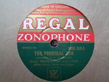BEVERIDGE AND LYLE - The Prodigal Son 78 rpm disc