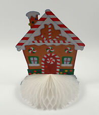 FOLD OUT CHRISTMAS HONEYCOMB PAPER GINGERBREAD HOUSE DECORATION CENTREPIECE