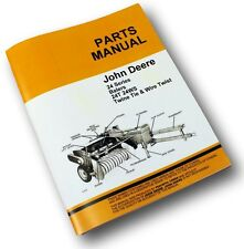 JOHN DEERE 24T 24WS HAY BALER PARTS MANUAL CATALOG KNOTTER TWISTER EXPLODED VIEW
