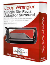 Jeep Wrangler stereo radio CD Facia Fascia adapter panel trim with pocket