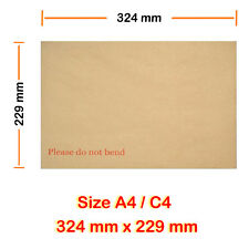 500 Hard Board Backed Envelope Manilla Please do not bend A4 C4 Good Quality