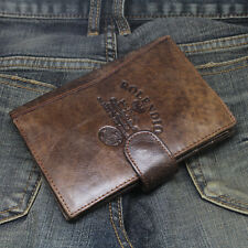 New Mens Wallet KOREA -330 Vintage Passport Leather Cover Holder Clutch Purse