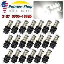 20x 3157 3156 White 5050 18-LED Tail Brake Stop Backup Reverse LED Light Bulbs